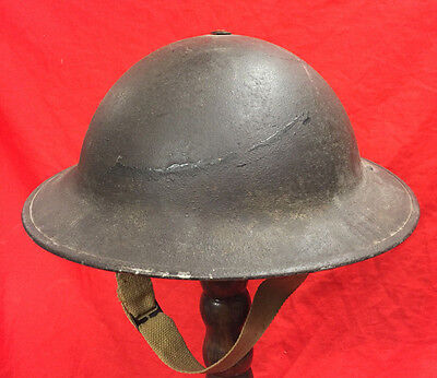Ww2 British Army Steel Helmet,+ Liner/strap, 1943 Combat,for Normandy Invasion..