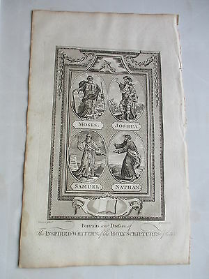 c 1800 WRITERS OF THE HOLY SCRIPTURES 7 FOLIO COPPER PLATE ENGRAVING