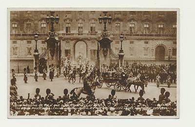 "Gb 1935 ""the Wedding Of T.r.h. Duke & Duchess Of Kent Leaving Palace"" Photo Card"
