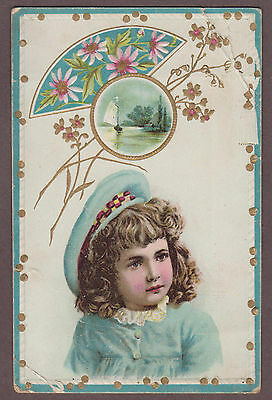 Lion Coffee Woolson Spice Toledo Ohio Victorian Trade Card Girl In Beret
