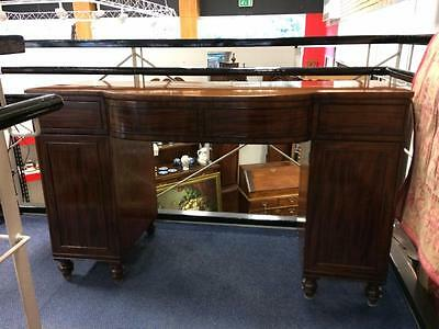 Regency Mahogany Sideboard c1820 Original Cellarette Drawer Bow Front