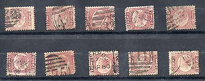 GB QV   10 x  good/fine used sg 48 1/2d Bantams different plates as scan