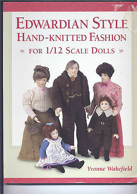 Edwardian Style Hand Knitted Fashion For 1/12 Scale Dolls