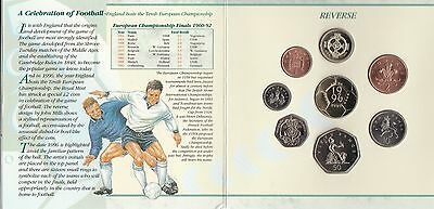 1996 Royal Mint BRILLIANT UNCIRCULATED  UNITED KINGDOM COIN SET With Football £2
