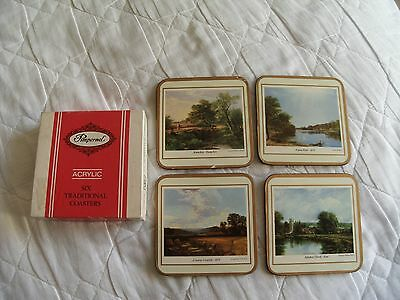 Vintage PIMPERNEL Set of Four Coasters in Original Box - English Countryside