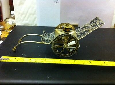 Vintage Antique Chinese Silver And Brass Rickshaw Ornament Free Uk Postage