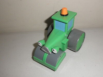 """HiT Hasbro 2001 Bob the Builder 4"""" Roley the Steam Roller Toy Figure Vehicle"""