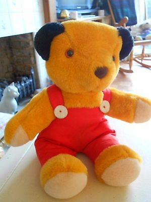 """Vintage Titan Toys Plush Sooty Toy 13"""" With Velcro Opening (H)"""