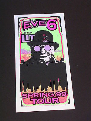 EVE 6 AND LIT SPRING TOUR Psychedelic Postcard by MARK ARMINSKI