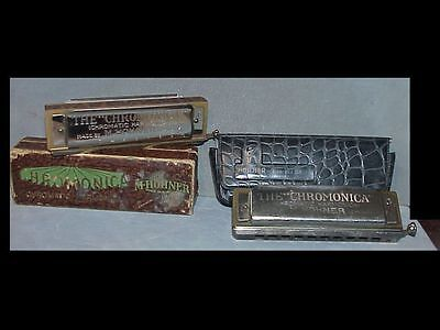 2 old HARMONICAS by HOHNER Chronomica  Both are Key of C