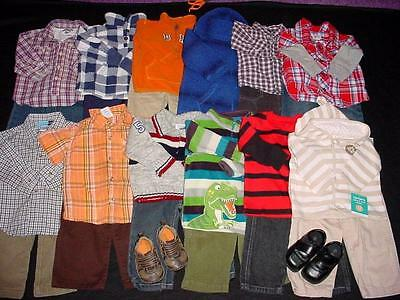 Used Baby Boy 12 18 Months Winter Spring Clothes Lot Tops Pants