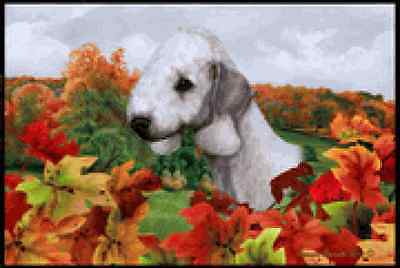 Indoor/Outdoor Fall Floor Mat - Bedlington Terrier 40131