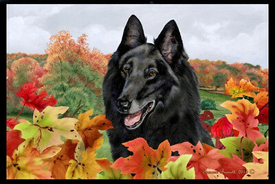 Indoor/Outdoor Fall Floor Mat - Belgian Sheepdog 40204
