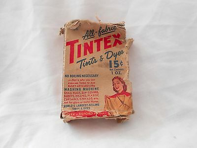 Collectible Vintage Tintex All-fabric Tints & Dyes Black 44