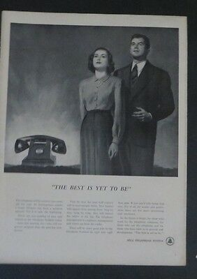 Original Print Ad 1948 BELL TELEPHONE SYSTEM Best Is Yet to Be