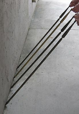 1920's Antique Flagpoles Solid Brass Set of 4 that mount on Building RARE