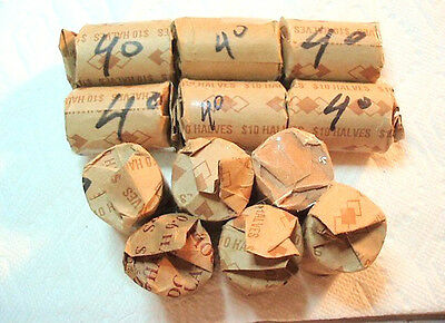 1 Roll 20 Coins 40% Silver Kennedy Halves EF AU 1965 to 1969D 9 Rolls Available