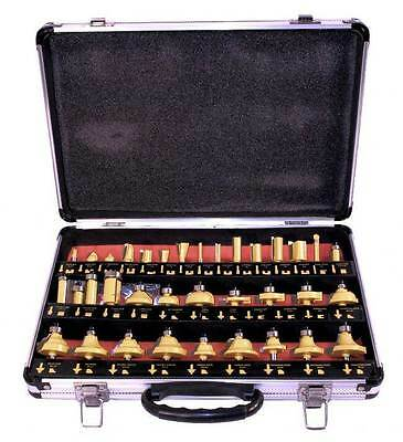 "Router Bit Set 35 piece Boxed 1/4"" Shank Tungsten Carbide Tool"