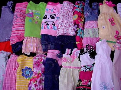 Used Baby Girl 6-9 9 12 Months Spring Summer Clothes Lot