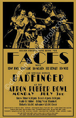 Faces 1972 Cleveland Concert Poster
