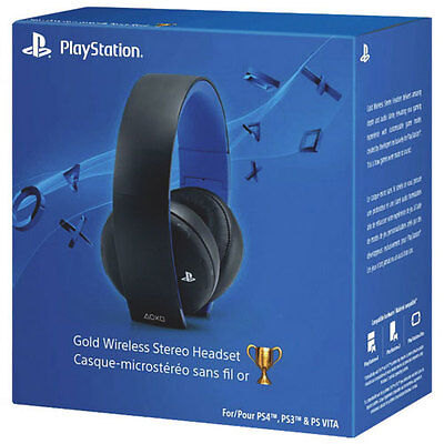 Sony PlayStation 4 PS4 Gold Wireless Stereo Headset