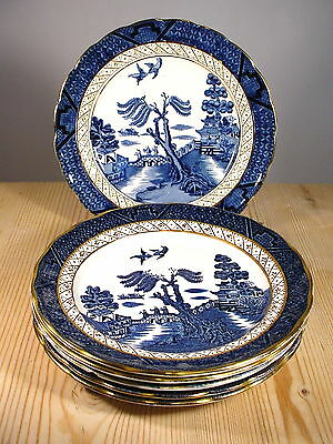 """Booths """"Real Old Willow"""" Six Tea Plates"""