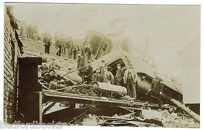 Real Photo Postcard of Grantham Train Disaster (2)