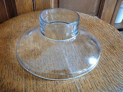 """INDEPENDENT GLASS CO - ANTIQUE 1883 CLEAR GLASS FUNNEL or LAMP SHADE 7.5"""" x 3"""""""