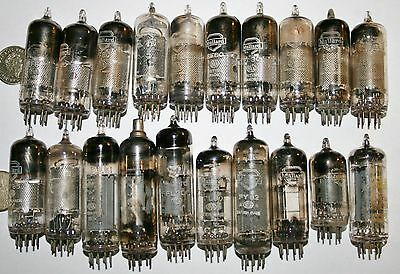 20 x Mixed Job Lot of Vintage MULLARD RADIO VALVES from Workshop Clearance Lot B