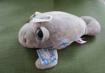 "Aurora10""plush Dolphin Grupo Discovery Patch All Gray,Big Blue Eyes,Tags,New"