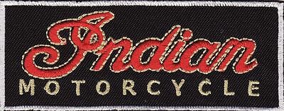 "Indian Motorcycle 3 7/8"" Banner Embroidered Iron On Patch *New*"