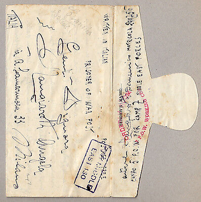 WW2 MIDDLE EAST FORCES Camp 5 Italian Lettersheet ORDERLY ROOM 7 POW WORKING COY