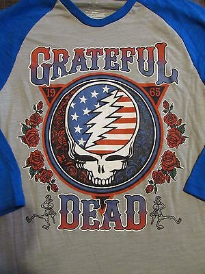 Grateful Dead Steal Your Face Roses 3/4 Sleeve T-Shirt Size Small - NWT