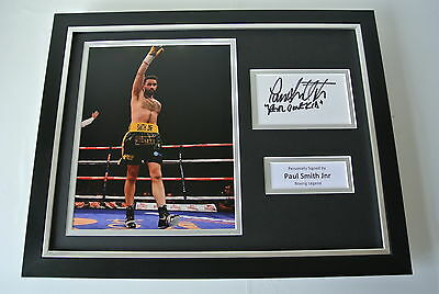 Paul Smith Jnr SIGNED FRAMED Photo Autograph 16x12 display Boxing Champion & COA