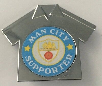 Manchester City Supporter FOOTBALL SHIRT INSERT METAL BADGE