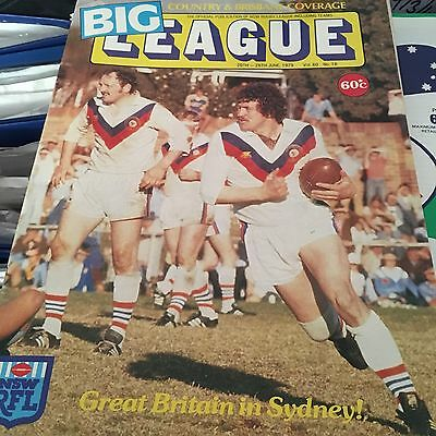 Australia Tour 1979 Great Britain In Sydney 20-26 June Big League Magazine Rugby