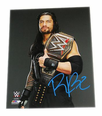 Wwe Roman Reigns Hand Signed Autographed 8X10 Photo File Photo With Coa 8