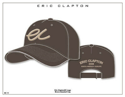 Eric Clapton 2008 Usa/europe Ec Logo Brown Baseballcap