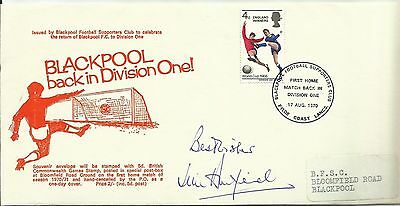 1970 BLACKPOOL (Back in Div 1) postal cover, ORIGINALLY SIGNED by JIM ARMFIELD!