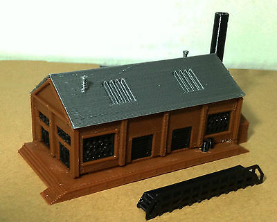 Outland Models Train Railway Layout Classic Industrial Factory Z Gauge 1:220