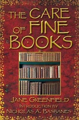 The Care of Fine Books by Jane Greenfield Paperback Book (English)