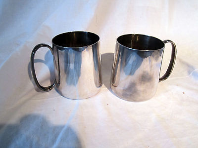 A Pair Of Vintage Silver Plated Tankards