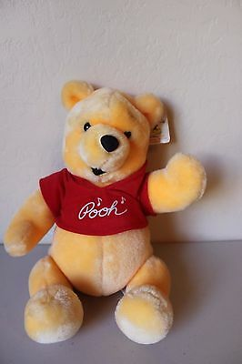 Vintage Disneyland Winnie the Pooh Bear Plush Stuffed Animal Jointed and Musical