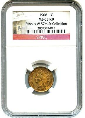 1906 1c NGC MS63 RB - Indian Cent