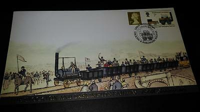 Buckingham Covers The Stockton to Darlington Railway 180th Anniversary Cover
