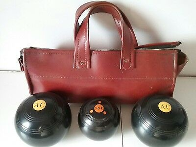Two Crown Green Bowls One Jack One Bag