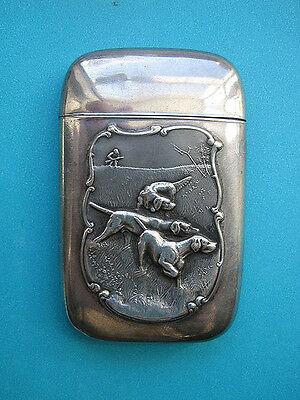 Sterling Hunting Dogs  Matchsafe