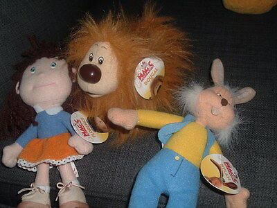 Magic Roundabout Small Dylan Dougal + Florence Beanies Plush Soft Toy With Tags