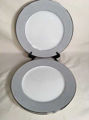 Set Of 3 Block Spal Grey Dawn Pattern Dinner Plates Portugal 10.5""
