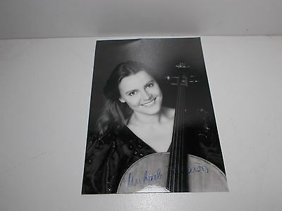 Authentic Signed  Photograph  Michaela Fukacova Czech Cellist